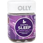 Olly - Restful Sleep Gummies with Melatonin, L-Theanine & Botanicals - For a Healthy Sleep Cycle - Blackberry (50 Gummies) - Sleep Support