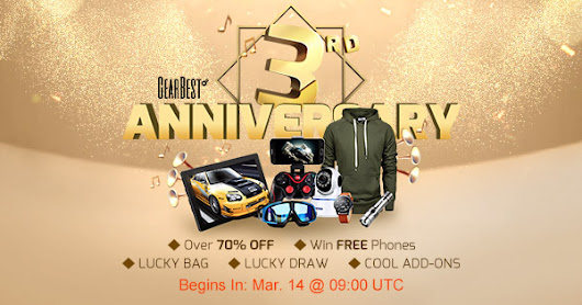The Gearbest 3rd Anniversary Gift for you