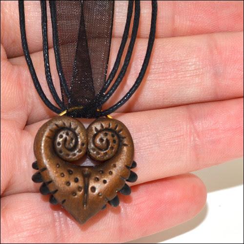 Folded Heart Bead