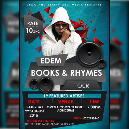 Edem Plays Agbozume On Next Tour This Saturday