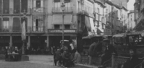 Café Español de Toledo en la Plaza de Zocodover. Fotografía de Loty hacia 1920.
