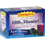 Emergen C Flavored Fizzy Drink Mix, 1000 mg Vitamin C, Acai Berry - 30 packets, 8.9 oz