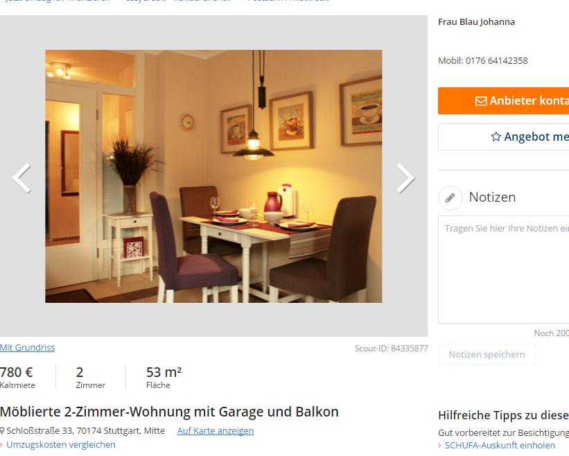 m blierte 2 zimmer wohnung. Black Bedroom Furniture Sets. Home Design Ideas