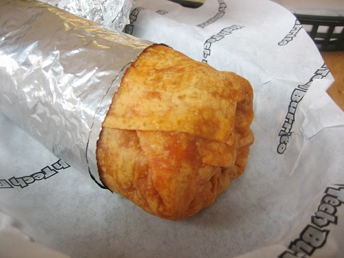 thai chicken burrito (with tofu instead of chicken + no cream)
