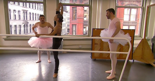 Misty Copeland Gives Jimmy Kimmel Ballet Lesson | POPSUGAR Fitness