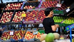 Fruit seller in Sydney