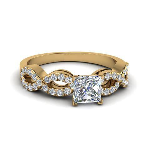 Glance Through Our Split Shank Princess cut Engagement