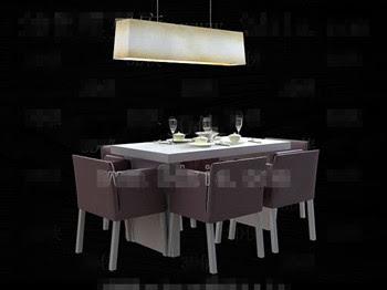 Modern, konforlu mor yemek masası