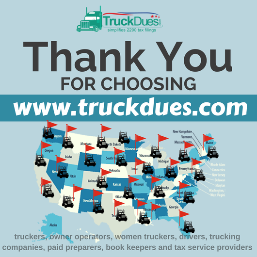 Truckers pave the way for Black Friday.