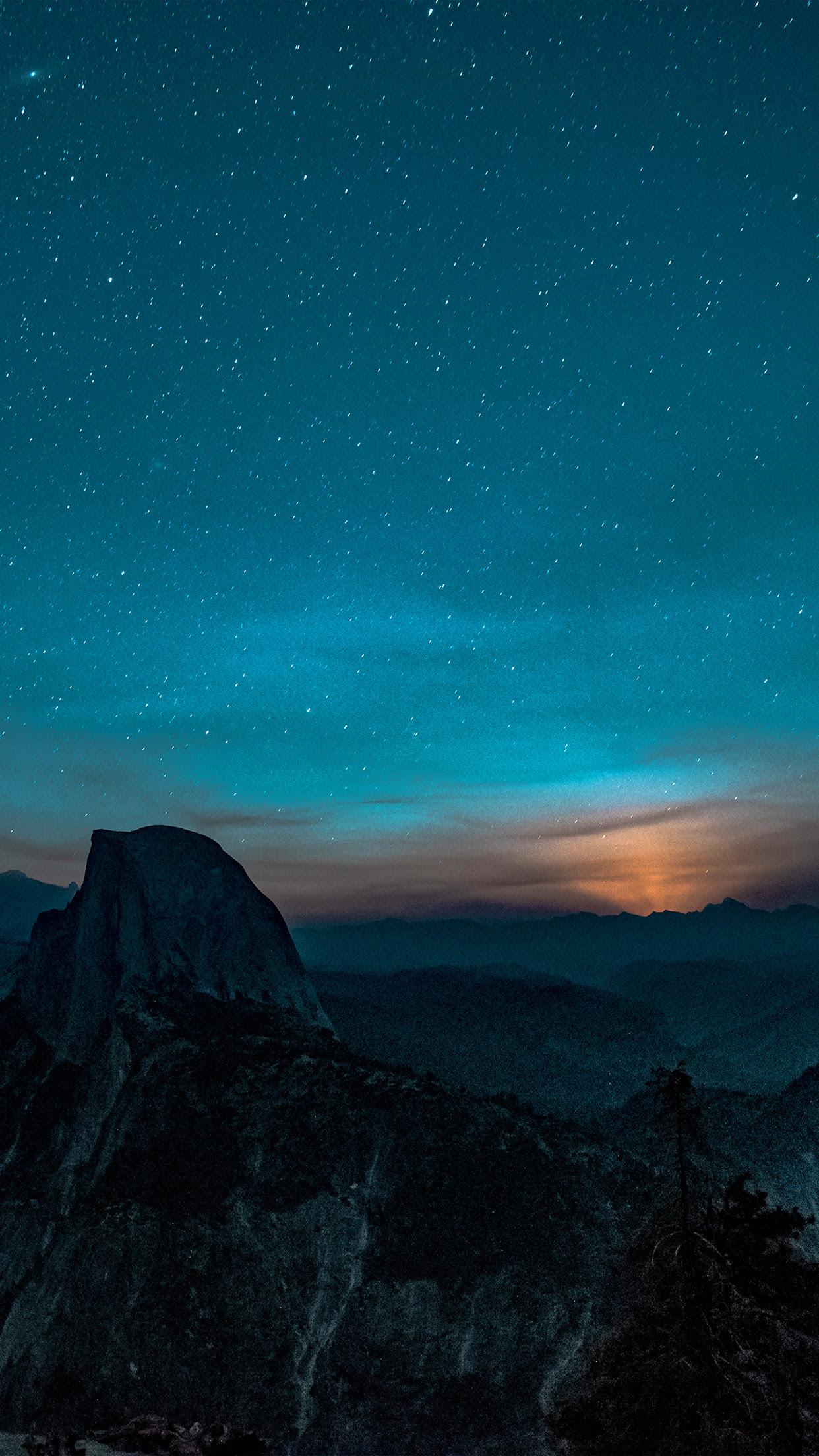 Mountains Night Hd Iphone Wallpaper