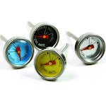 Norpro 5984 Mini Steak Thermometers - Stainless Steel Probe Color Coded Set Of 4