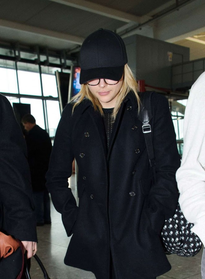 Chloe Moretz: Heathrow Airport -10