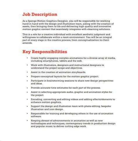 Graphic Design Job Description