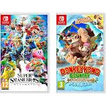 Nintendo Switch Super Smash Bro & Donkey Kong Tropical Freeze Video Game