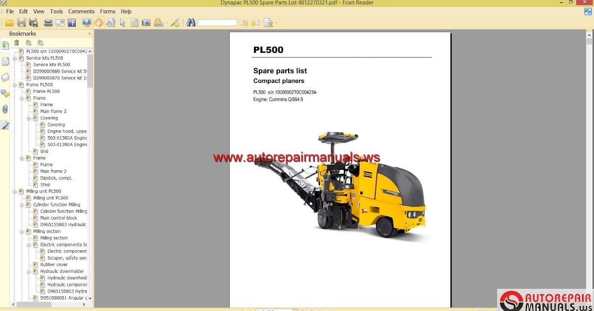 Keygen Autorepairmanuals Ws  Dynapac Pl500 Spare Parts