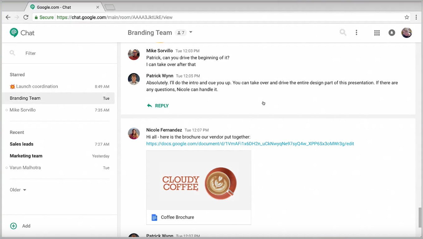 Image result for hangouts chat