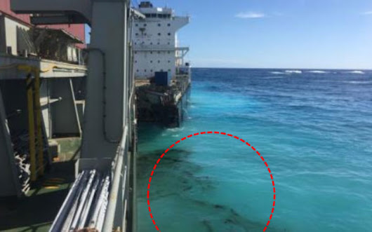 New Caledonia oil spill came from stranded container ship