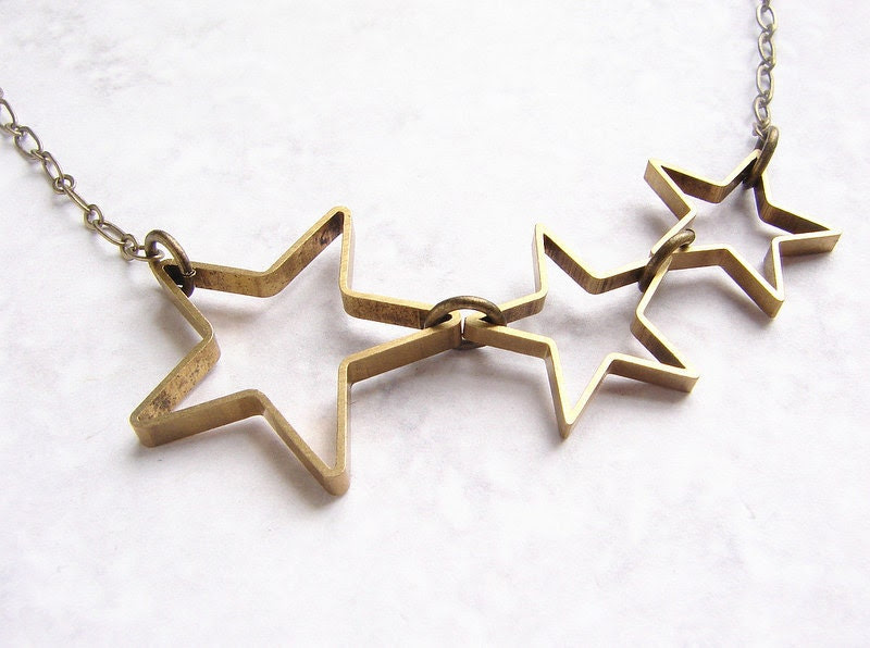 Star necklace - open star silhouette necklace modern geometric necklace, simple everyday necklace FREE SHIPPING SALE
