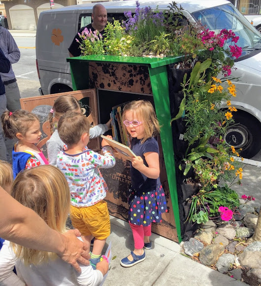 This Little Free Library Is Adorable Enough, Then Add a Mini Vertical Garden