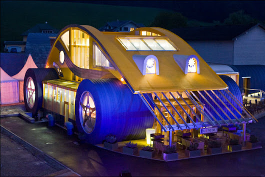 This Former Restaurant in Austria Looks Like a Giant VW Beetle!