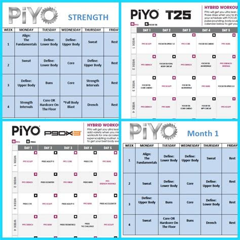 define    piyo workout schedule piyo