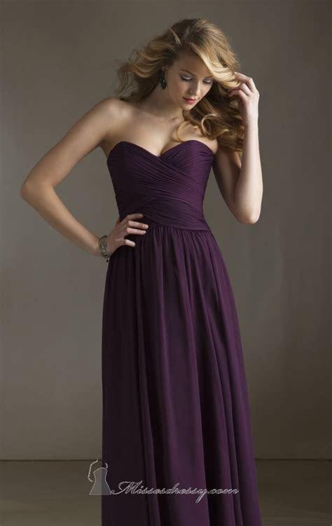 Dramatic Deep Purple Bridesmaid Dress Mori Lee 20411 by