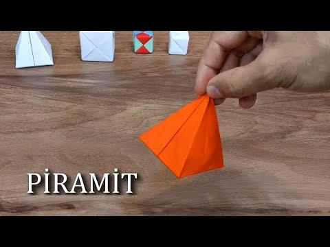 Kağıttan piramit nasıl yapılır? Sadece kağıt katlayarak piramit yapımı.