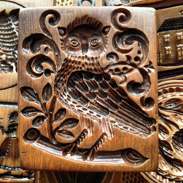 Medieval owl #springerle #speculaas #bakingsoon #tistheseason