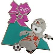 London 2012 Olympics Mascot Football/Soccer Pin