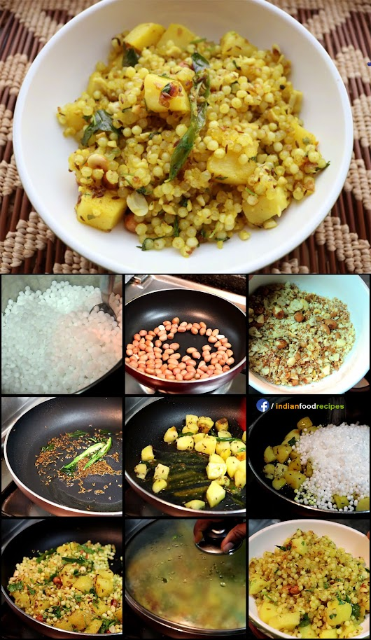 Sabudana Khichdi recipe step by step pictures | Indian Food Recipes