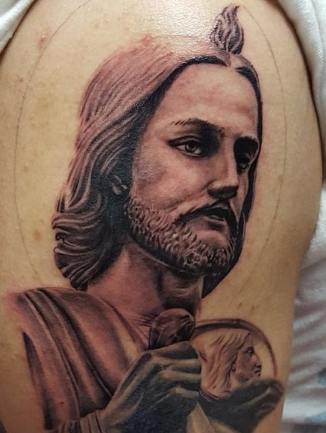 Tatuajes De San Judas Tadeo A Color : tatuajes, judas, tadeo, color, Tattoos, Judas, Tadeo, Color, Tattoo