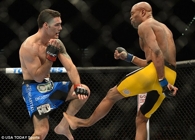 Unnatural: Silva's leg buckled at a horrible angle and broke after coming in contact with Weidman's knee