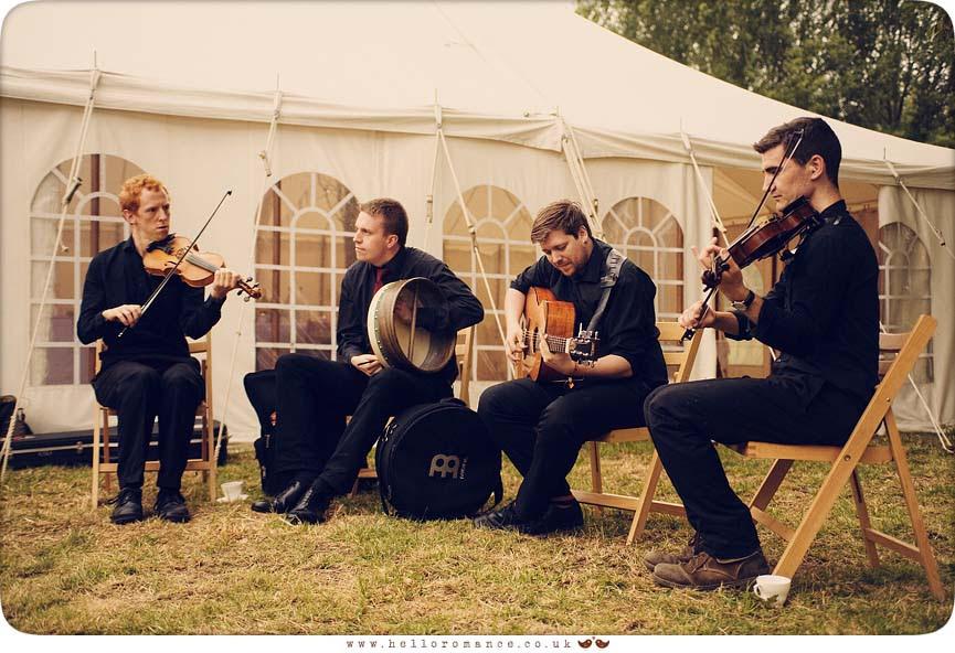 Céilidh band at Wedding - Hello Romance