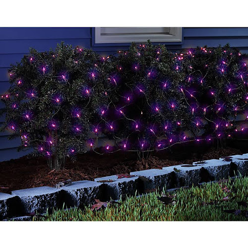celebrations 34116 71 led net halloween lights 100 count purple