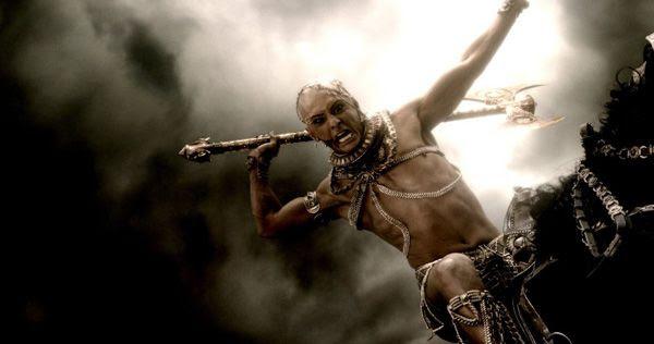 Xerxes (Rodrigo Santoro) seeks one more act of revenge against King Leonidas (off-screen) in 300: RISE OF AN EMPIRE.