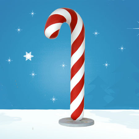 Large Candy Cane 6 ft. high