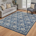 """G.A. Gertmenian and Sons Rio Rug Collection, Potala Blue. 2'2"""" x 8'"""