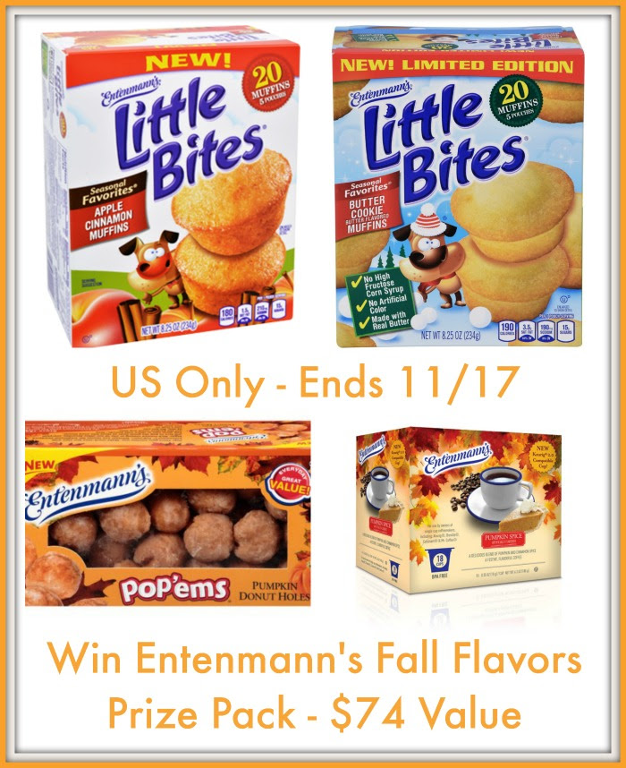 Enter the Entenmann's Harvest Giveaway. Ends 11/17