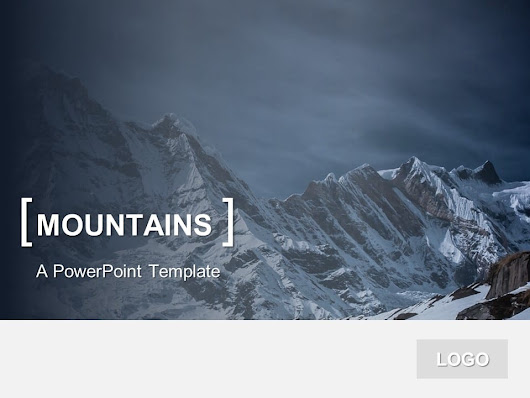 PowerPoint Template Mountains - PresentationGo.com