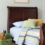 Liberty Furniture Carriage Court Twin Sleigh Headboard in Mahogany - 709-BR11H