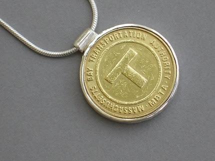 Boston T  Token Necklace