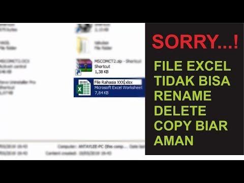 Bagaimana Cara Mengunci/Proteksi File Excel Agar tidak Bisa Di Copy Dihapus