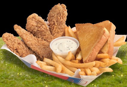 10-Top 10 comidas mais Calóricas do mundo- Dairy Queen Chicken Strip Basket