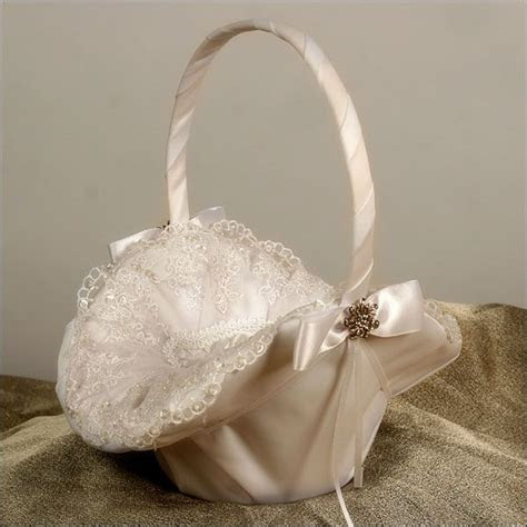 allure ivory flower girl basket wedding cakes