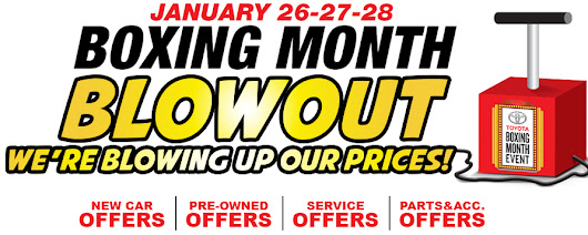 Boxing Month Blowout - Competition Toyota