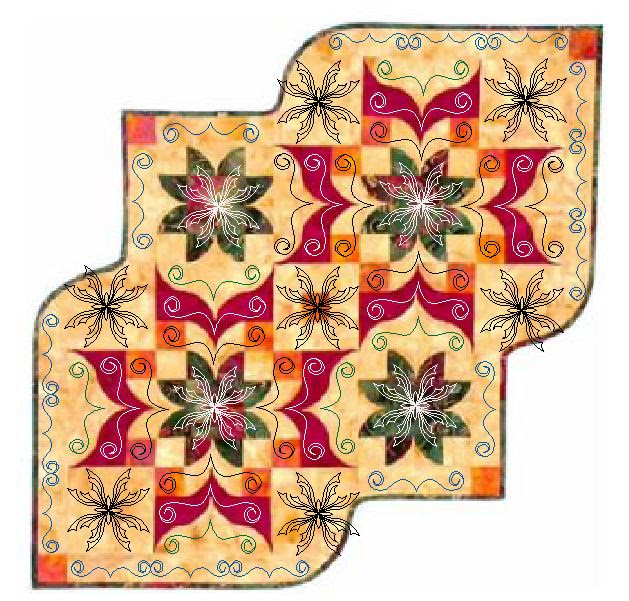 Victorian Table Runner Quilting Designs