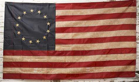 Primitive 13 Star Betsy Ross Flag   Wall Decor   Home Decor