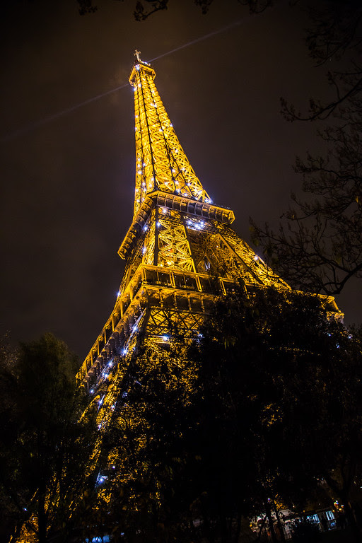 Light Show at the Eiffel Tower