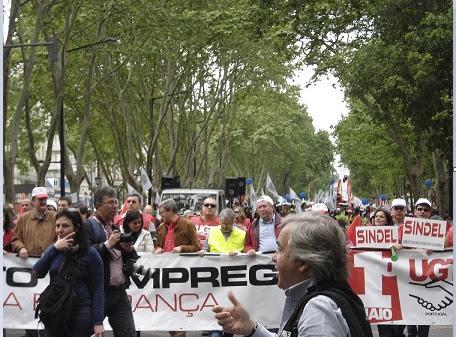Trabajadores lusos protestan el 1 de mayo contra los ajustes económicos