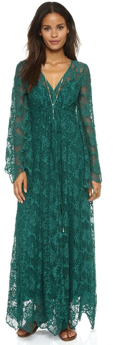 Green mother of bride dress